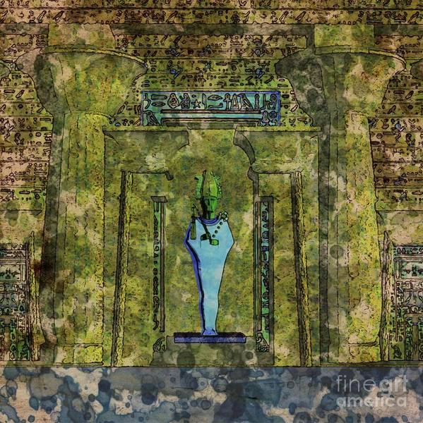 Egypt Digital Art - Osiris By Raphael Terra And Mary Bassett by Raphael Terra