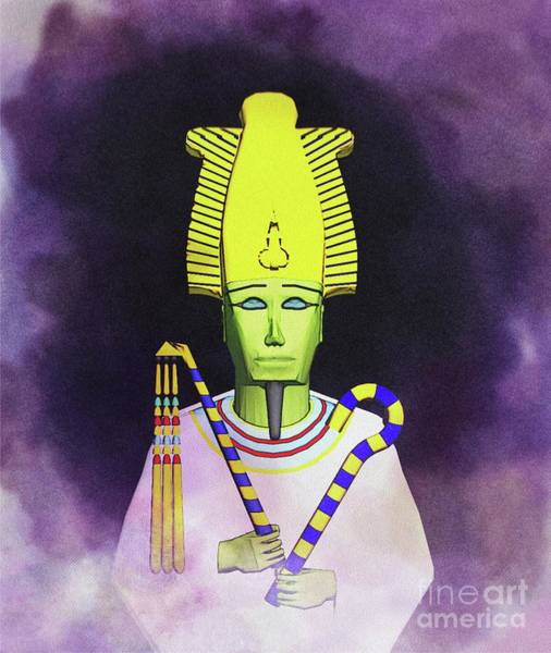 Wall Art - Painting - Osiris - God Of Egypt by Raphael Terra