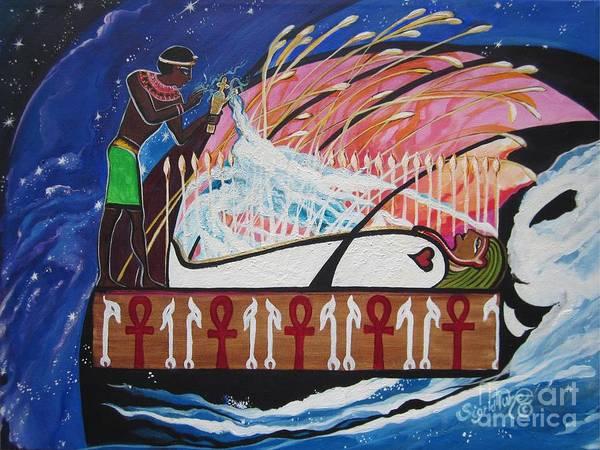 Painting - Osiris - Nepra By Blaa Kattproduksjoner  by Sigrid Tune
