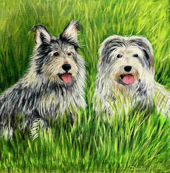 Painting - Oskar And Reggie by Dustin Miller