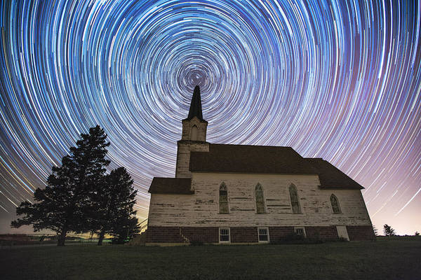 Star Trails Photograph - Oslo Trails by Aaron J Groen