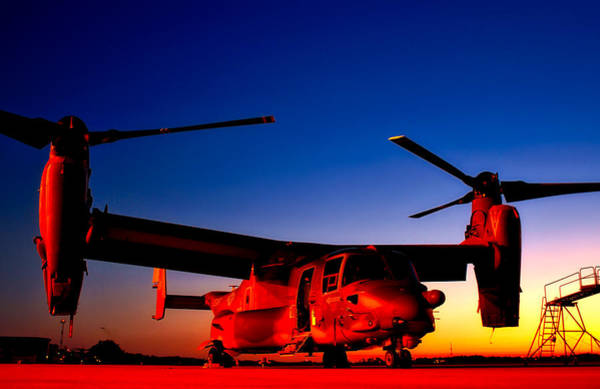 Copter Photograph - Osprey At Sunset by Mountain Dreams