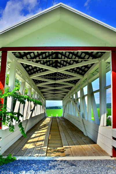 Photograph - Osterburg-bowser Covered Bridge by Lisa Wooten