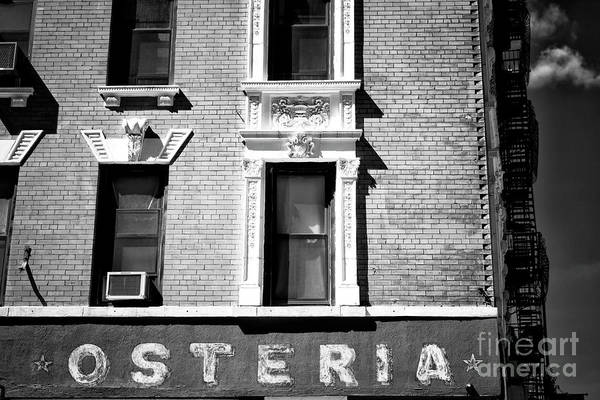 Photograph - Osteria by John Rizzuto