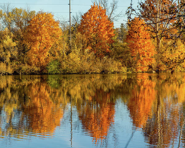 Photograph - Oswego River Reflections by Rod Best