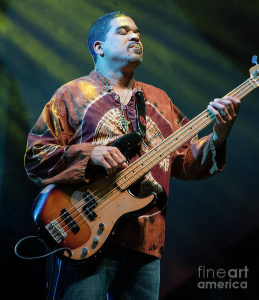 Allman Brothers Band Photograph - Oteil Burbridge With The Allman Brothers Band by David Oppenheimer