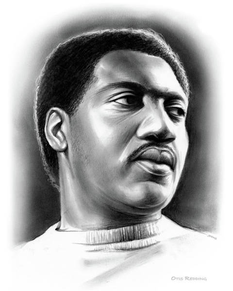 Soul Wall Art - Drawing - Otis Redding by Greg Joens