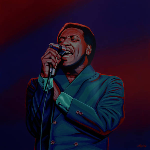 Painting - Otis Redding Painting 2 by Paul Meijering