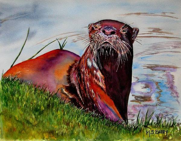 Wall Art - Painting - Ott by Maria Barry
