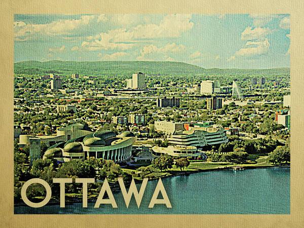 Wall Art - Digital Art - Ottawa Travel Poster by Flo Karp