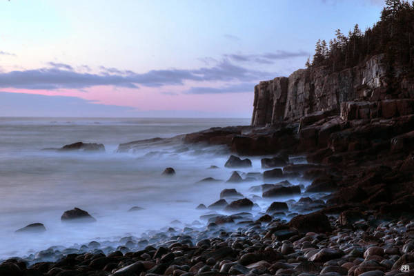 Photograph - Otter Cliff Awash by John Meader