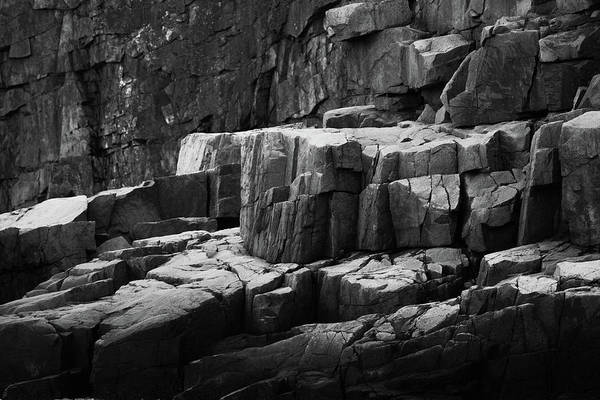 Photograph - Otter Cliff Detail In Black And White by Rick Berk