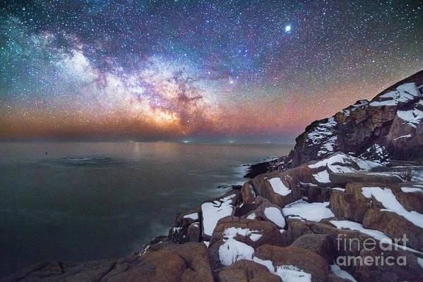 Wall Art - Photograph - Otter Cliffs At Night by Benjamin Williamson