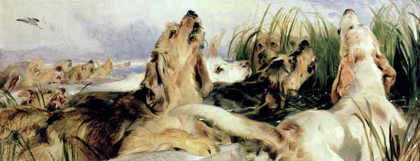 Wall Art - Painting - Otter Hounds by Sir Edwin Landseer