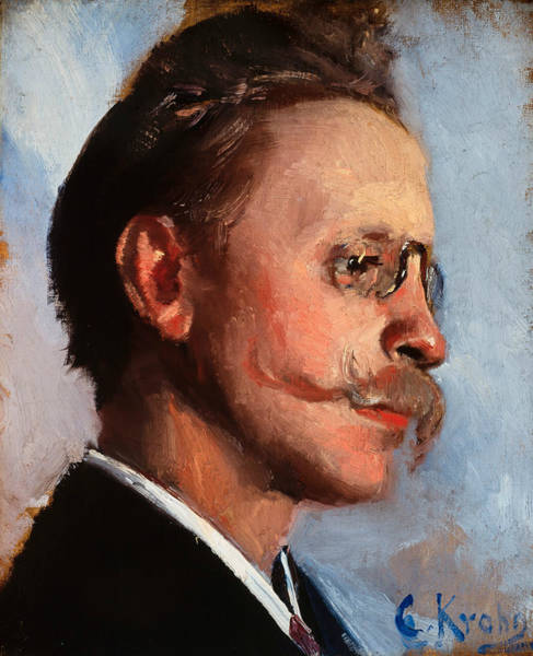 Painting - Otto Benzon by Christian Krohg