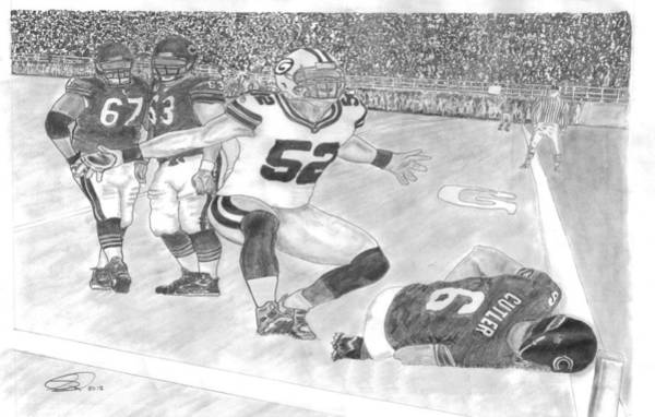 Super Bowl Drawing - Ouch Mathews Cutler by Scott Anderson