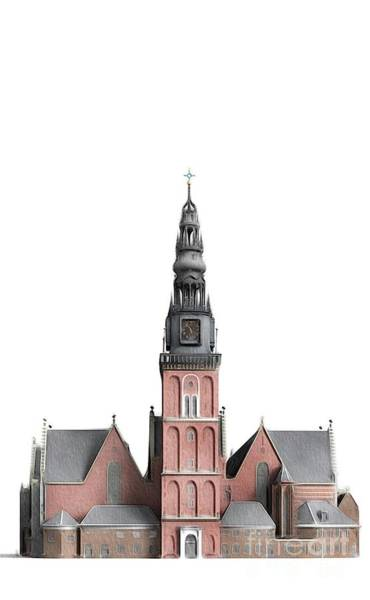 Amsterdam Painting - Oude Church, Amsterdam by John Springfield