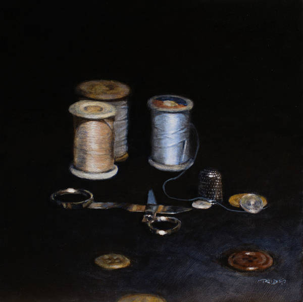 Painting - Ouma's Repair Kit by Christopher Reid