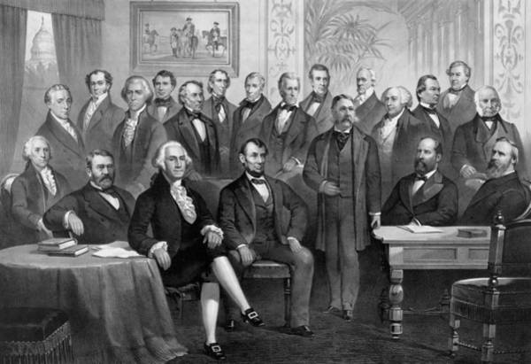 Wall Art - Drawing - Our American Presidents 1789 - 1881  by War Is Hell Store