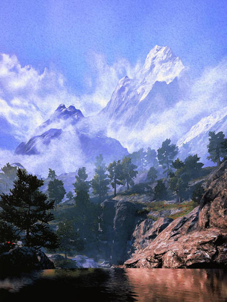 Painting - Our Beloved Mountains by Andrea Mazzocchetti