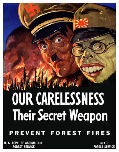 Ww2 Painting - Our Carelessness - Their Secret Weapon by War Is Hell Store