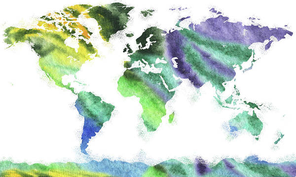 Painting - Our Colorful World  by Irina Sztukowski