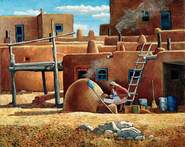 Pueblo Painting - Our Daily Bread by Donna Clair