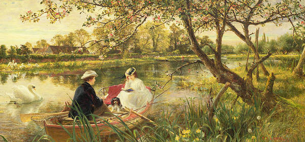 Charles River Wall Art - Painting - Our Holiday by Charles James Lewis