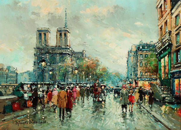 Wall Art - Painting - Notre-dame De Paris by Antoine Blanchard