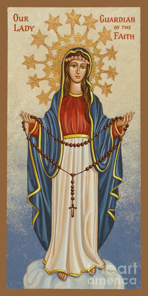 Painting - Our Lady Guardian Of The Faith - Jclgf by Joan Cole