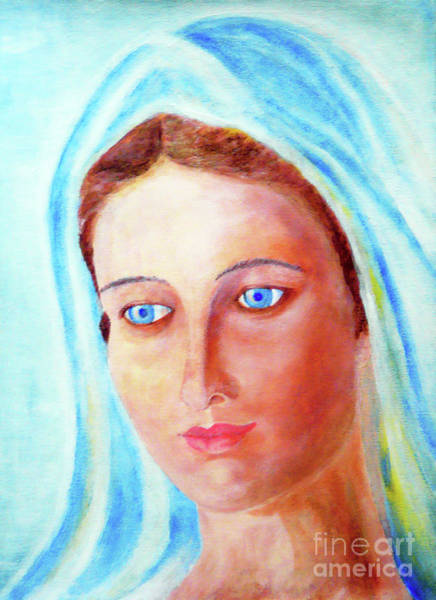 Wall Art - Painting - Our Lady by Jasna Dragun