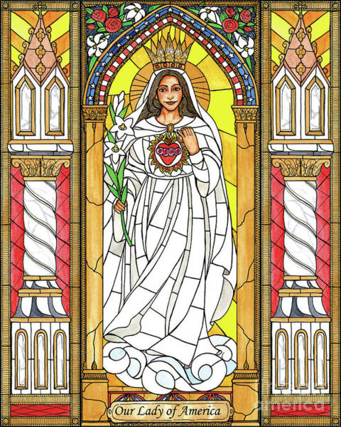 Painting - Our Lady Of America by Brenda Nippert