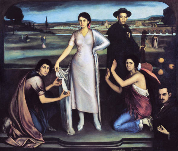 Perfect Body Painting - Our Lady Of Andalusia 1907 by Julio Romero De Torres