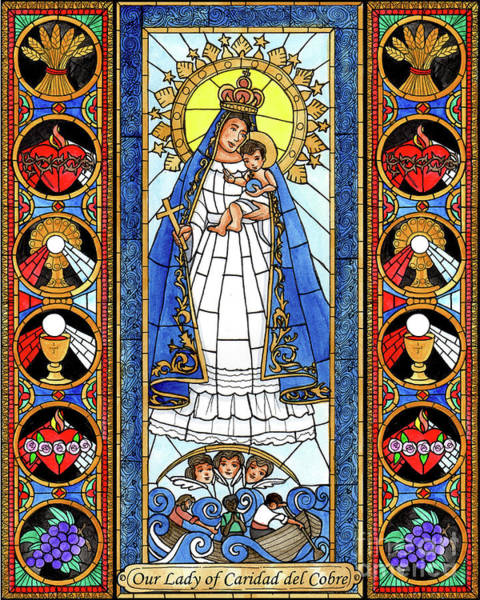 Painting - Our Lady Of Caridad Del Cobra by Brenda Nippert