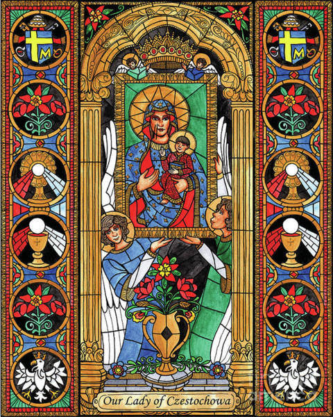 Painting - Our Lady Of Czestochowa by Brenda Nippert