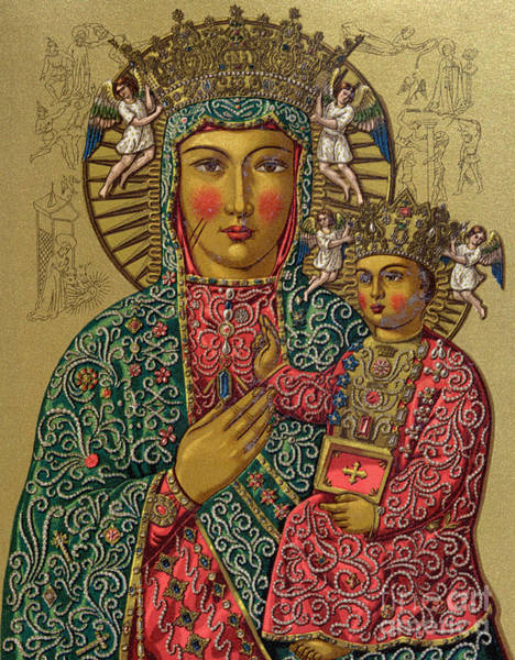 Poland Painting - Our Lady Of Czestochowa, Late 19th Century by French School