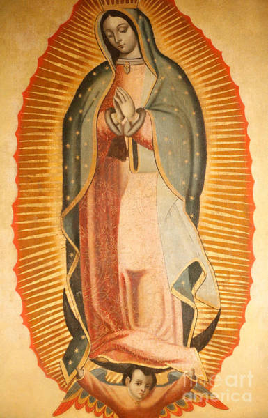 Central America Painting - Our Lady Of Guadalupe by American School