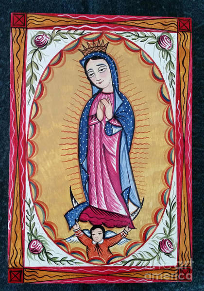 Painting - Our Lady Of Guadalupe - Aogad by Br Arturo Olivas OFS