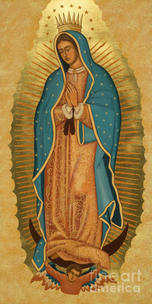 Painting - Our Lady Of Guadalupe - Jcoga by Joan Cole