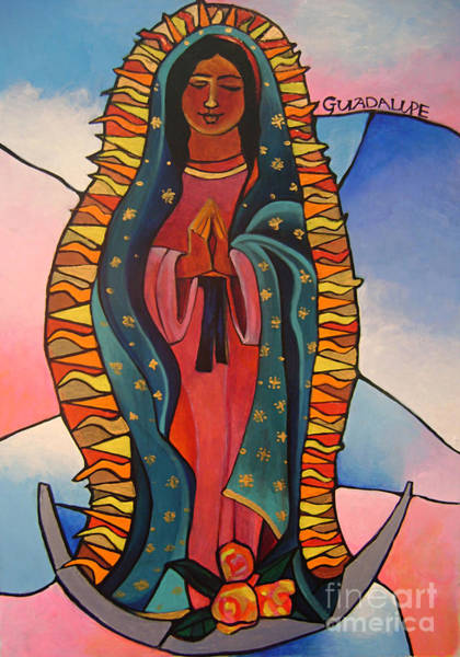 Painting - Our Lady Of Guadalupe - Mmlup by Br Mickey McGrath OSFS