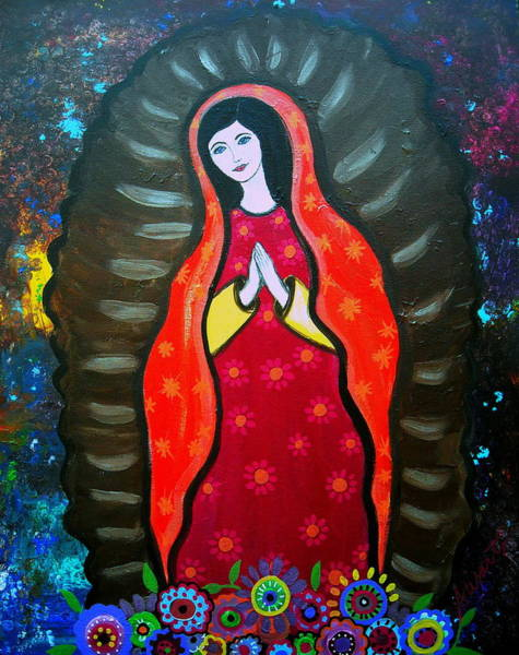 Painting - Our Lady Of Guadalupe by Pristine Cartera Turkus
