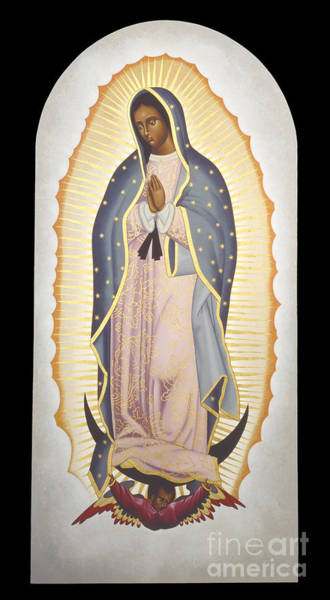 Painting - Our Lady Of Guadalupe - Rlolg by Br Robert Lentz OFM