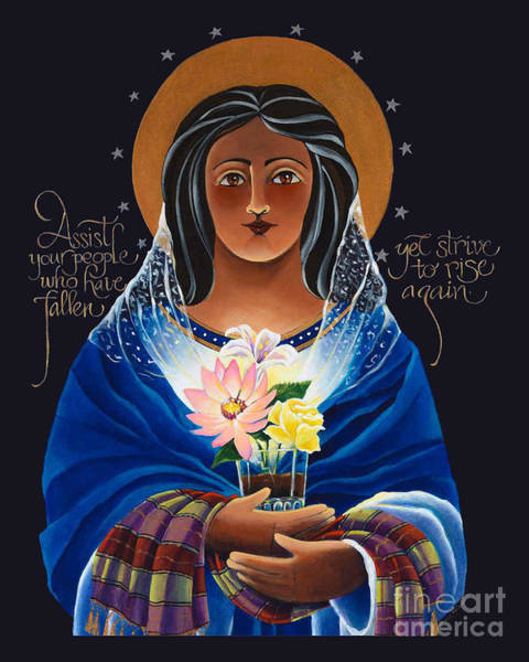 Painting - Our Lady Of Light - Help Of The Addicted - Mmlol by Br Mickey McGrath OSFS