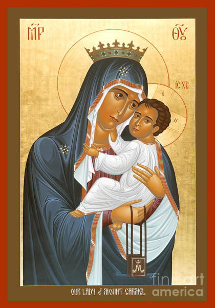 Painting - Our Lady Of Mount Carmel - Rlolc by Br Robert Lentz OFM