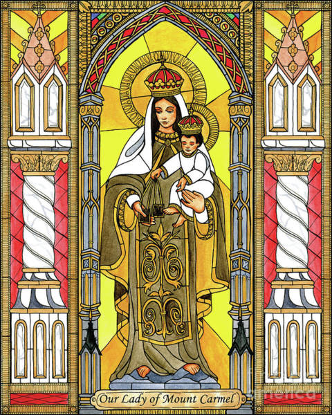 Painting - Our Lady Of Mt.. Carmel by Brenda Nippert