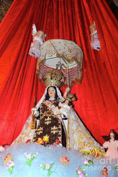 Photograph - Our Lady Of Mt Carmel Paucartambo Peru by James Brunker