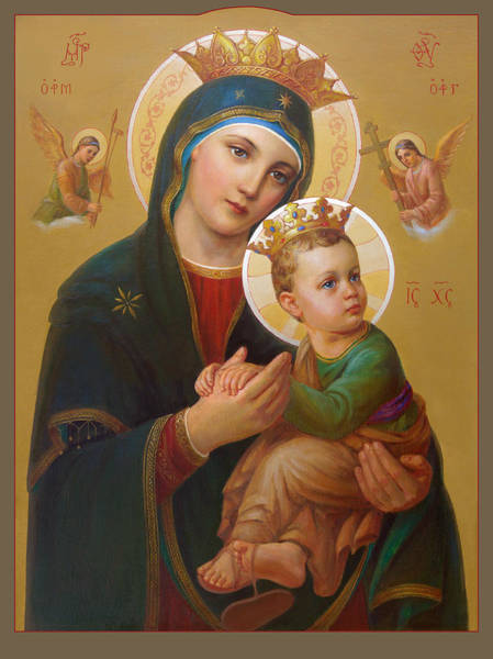 Gabriel Painting - Our Lady Of Perpetual Help - Perpetuo Socorro by Svitozar Nenyuk