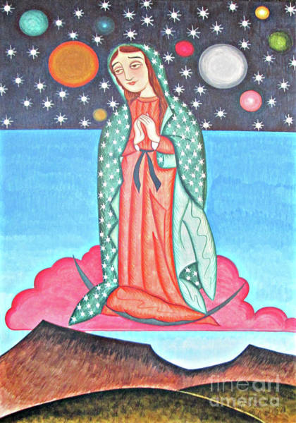 Painting - Our Lady Of The Cosmos - Aocso by Br Arturo Olivas OFS