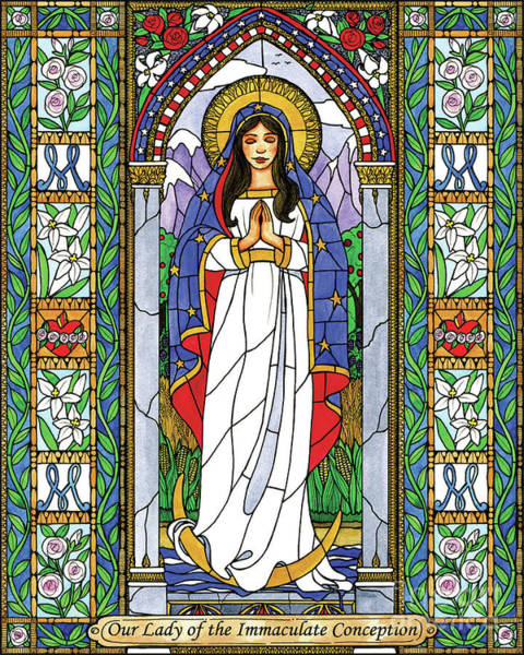 Painting - Our Lady Of The Immaculate Conception by Brenda Nippert