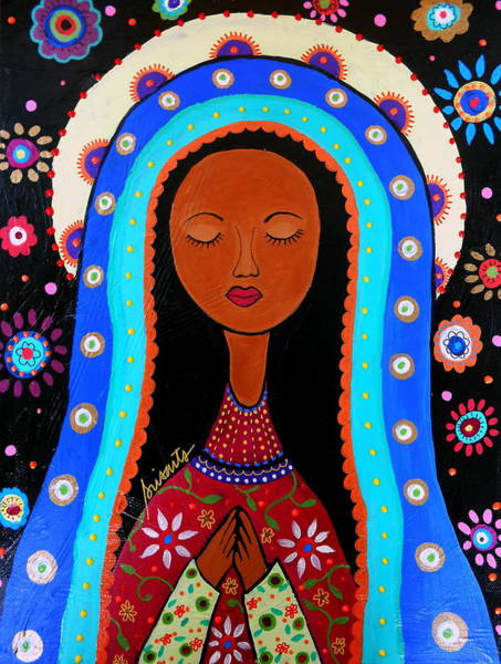 Painting - Our Lady Of Virgin Guadalupe by Pristine Cartera Turkus